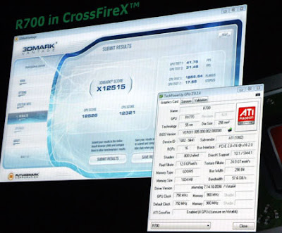 X12515 points in 3DMark Vantage on dual ATI Radeon HD 4870 X2 CrossFireX