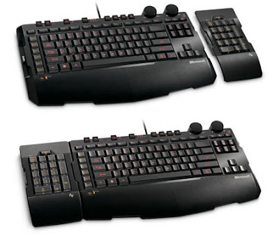 Microsoft Sidewinder X6 modular black keyboard