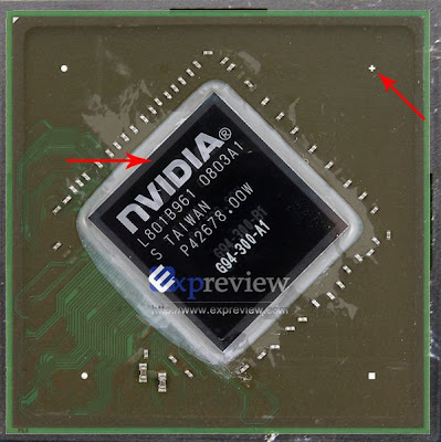 Nvidia G94 (9600 GT) die shrink to 55nm