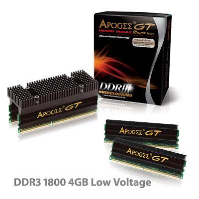 APOGEE GT Blazer DDR3 1800 4GB Low Voltage memory modules