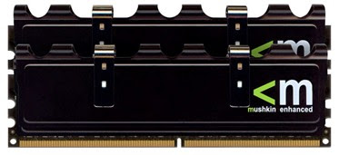 Mushkin Enhanced 4096 MB, XP2-6400 X-Line memory modules with black aluminium heatspreaders