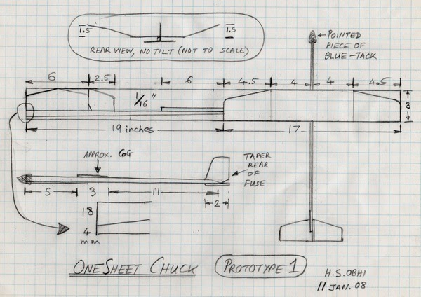 Chuck Glider's Model Aircraft Jotter: Chuck Glider from one