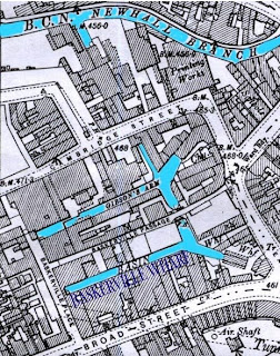 Map of car park site next to baskerville house.