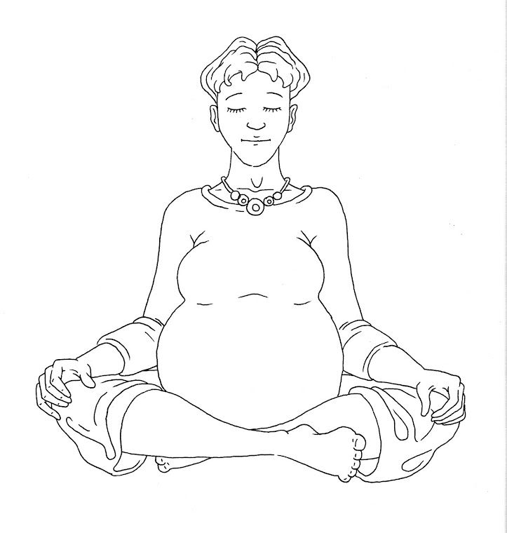 yoga line drawing 2