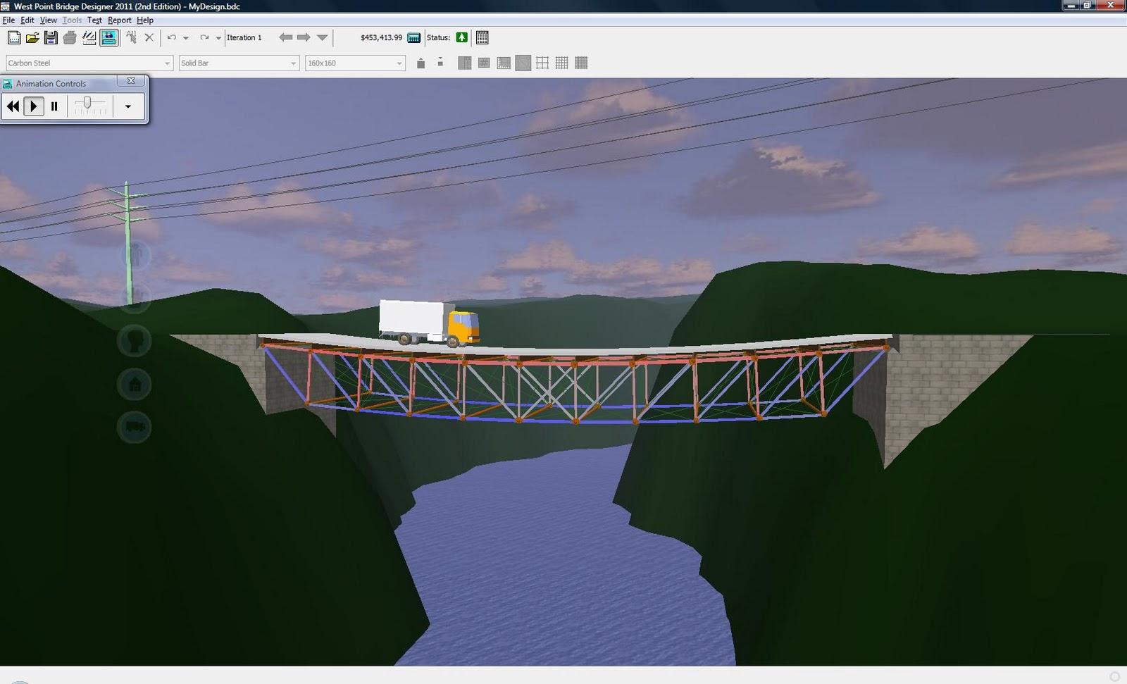 SimInsights: Simulation based design of bridges