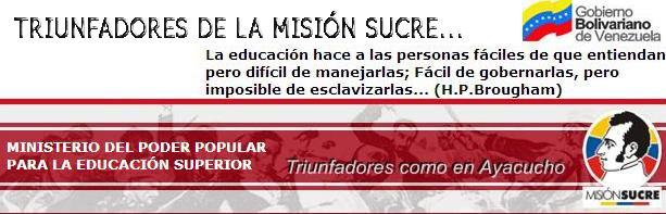 Triunfadores de la Misión Sucre . Aldea Hermágoras Chávez, Cabimas