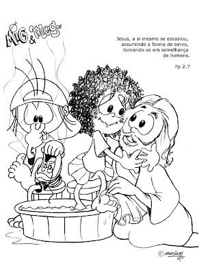 Desenhos para colorir Mig e Meg