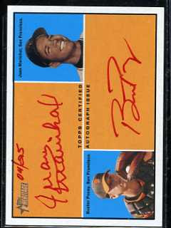2010 Topps Heritage Buster Posey and Juan Marichal Dual Auto