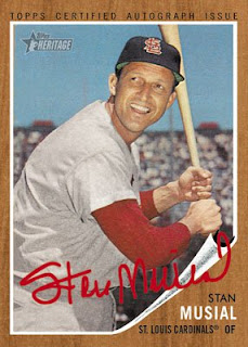 2011 Topps Heritage Stan Musial Real One Auto
