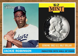 2011 Topps Heritage '62 Mint Jackie Robinson Coin