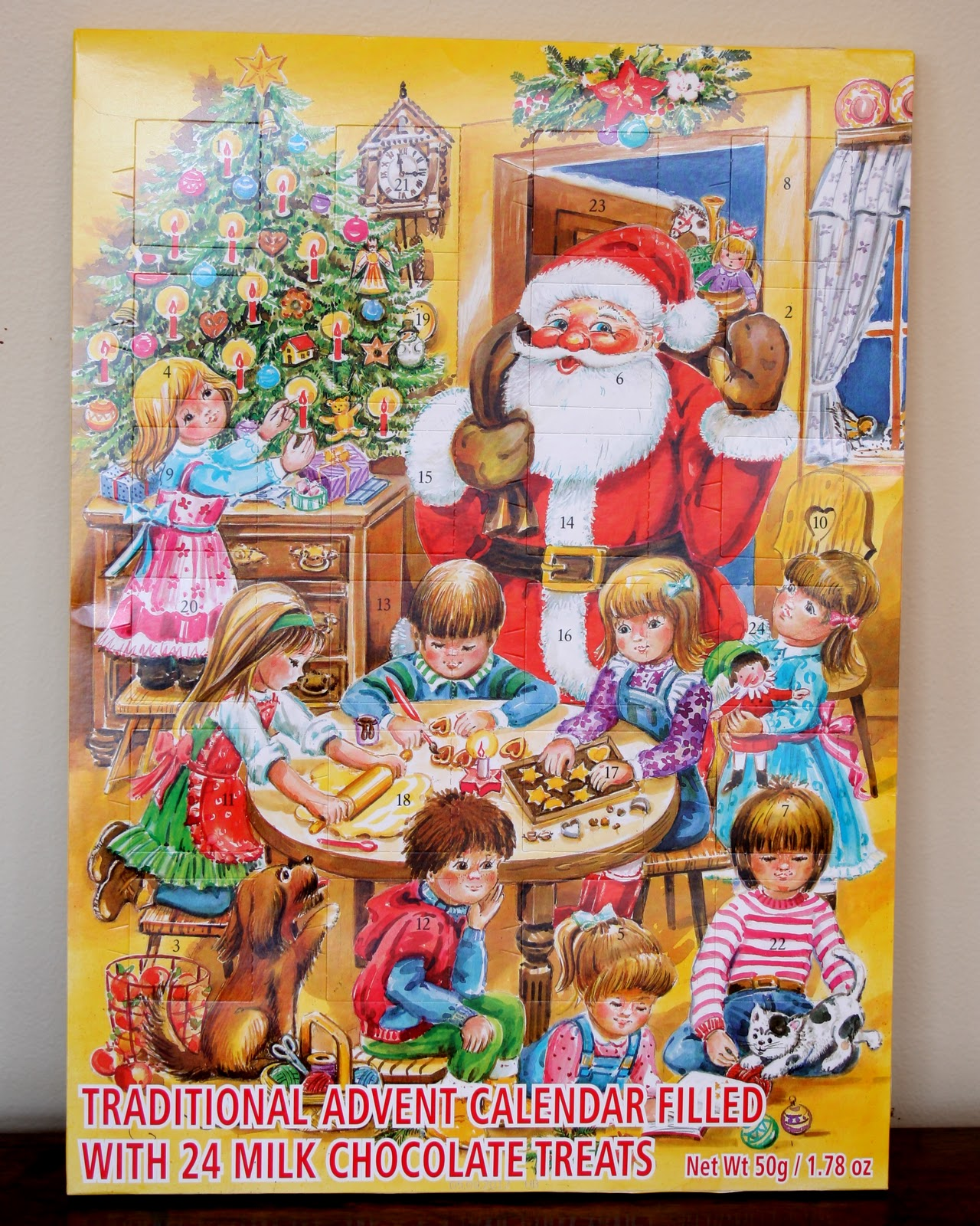 antiqueaholics advent calendars toddlers to college. Black Bedroom Furniture Sets. Home Design Ideas