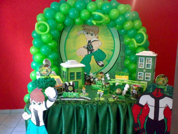 mesa infantil decorada