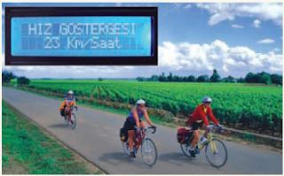 Bisiklet hız göstergesi devresi