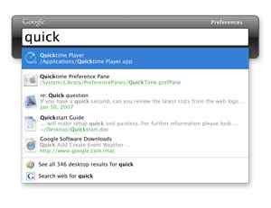 Google Desktop MAC Quick Search Box
