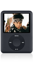 New redesigned iPod nano black
