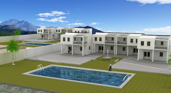 Casas blancas de playa