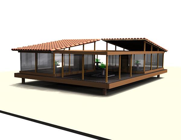Casa de jardin isometrica