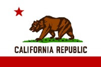 LET ME BE YOUR TEDDY BEAR - CALIFORNIA FLAG