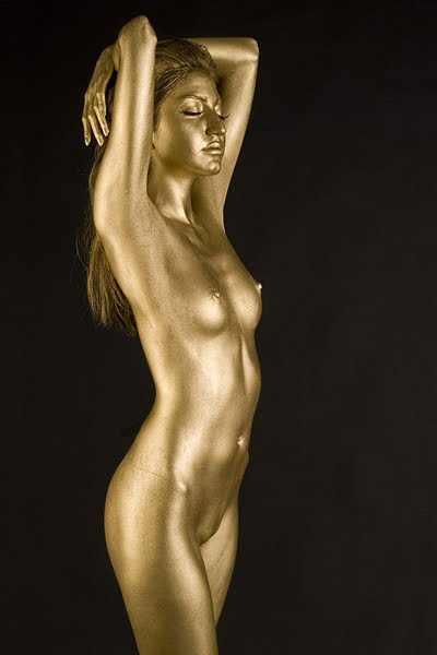 nude Gold body paint
