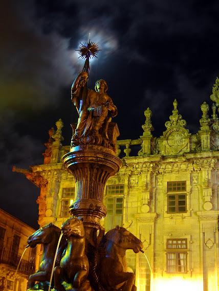 Estátua em Santiago de Compostela