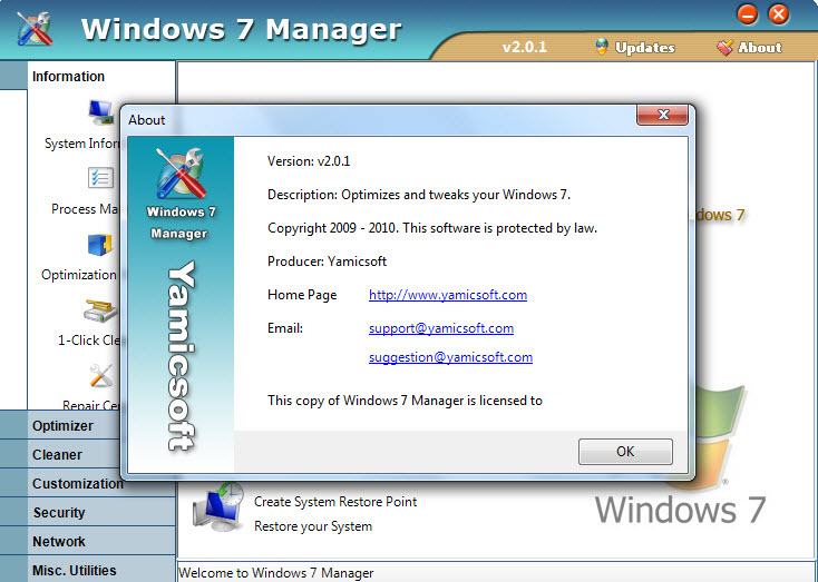 Windows 7 manager v1.2.1 x86 x64 pc