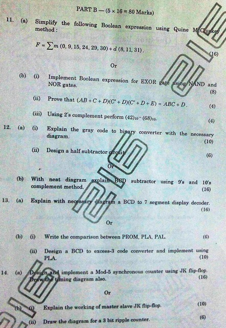 anna university chennai web technology question papers