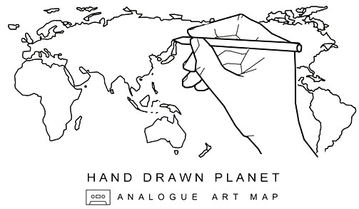 hand drawn planet
