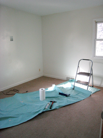 Then I Painted All The Trim In Room Valspar S Ultra White Followed By Painting Ceiling 20 Of Wallcolor And Finally Walls Winter