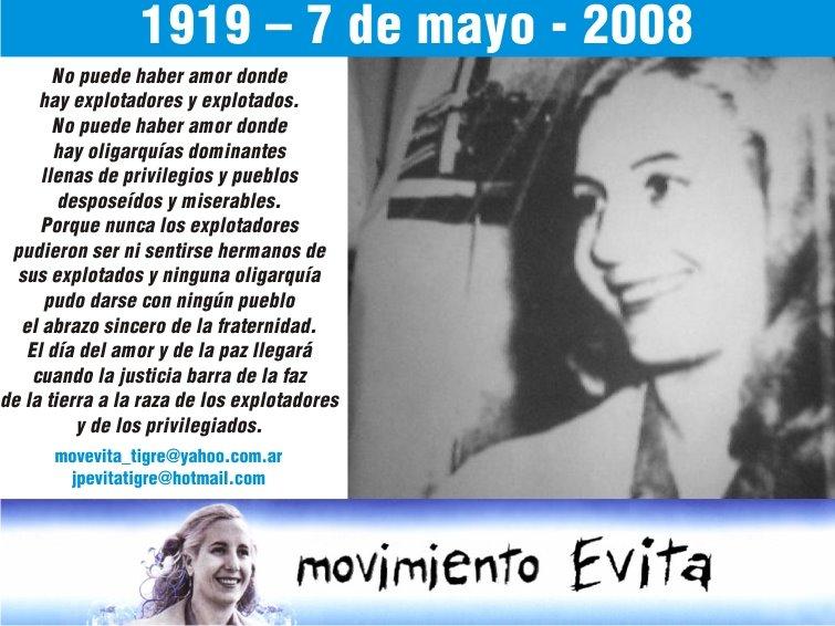 Cumpleaños de Evita - Homenaje a la Compañera