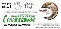 Numero Gratuito per donne straniere in Italia contro i maltrattamenti e le violenze