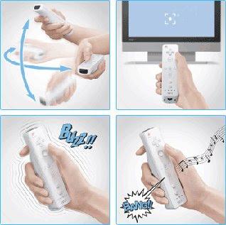 Usando el mando Wii