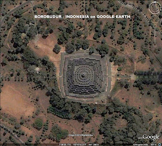 Hasil gambar untuk borobudur on google earth