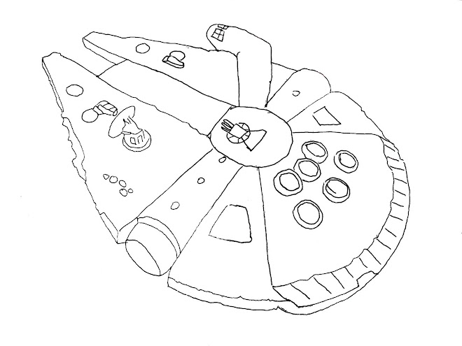 Star Wars Millenium Falcon Coloring Coloring Pages
