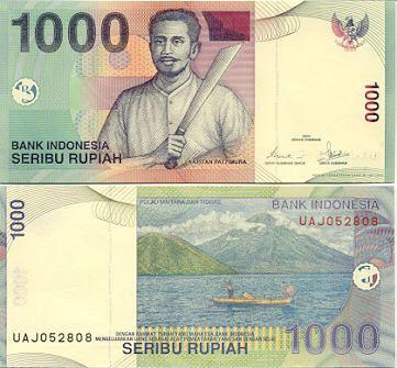 Uang Rp 1000 Tahun 2000