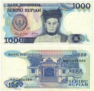 bentuk uang 1000 rupiah