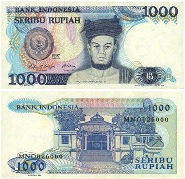 Uang Rp 1000 Tahun 1987