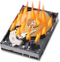 Burning hard Drive