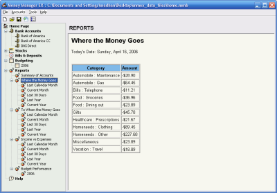 money manager, free alternative to quicken