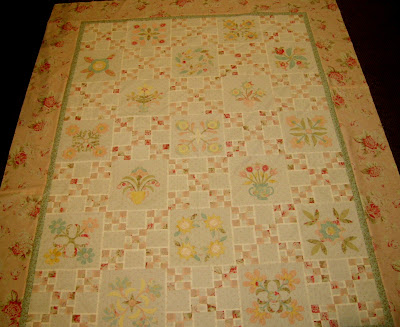 Irish Chain Floral Applique