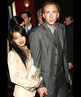 Alice Kim and Nicolas Cage