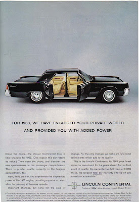 1963 Lincoln Continental: Suicide Doors