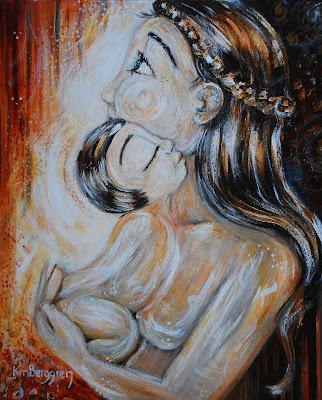 Motherhood Painting: Heart Of Hearts