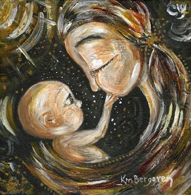 motherhood painting by Katie m. Berggren