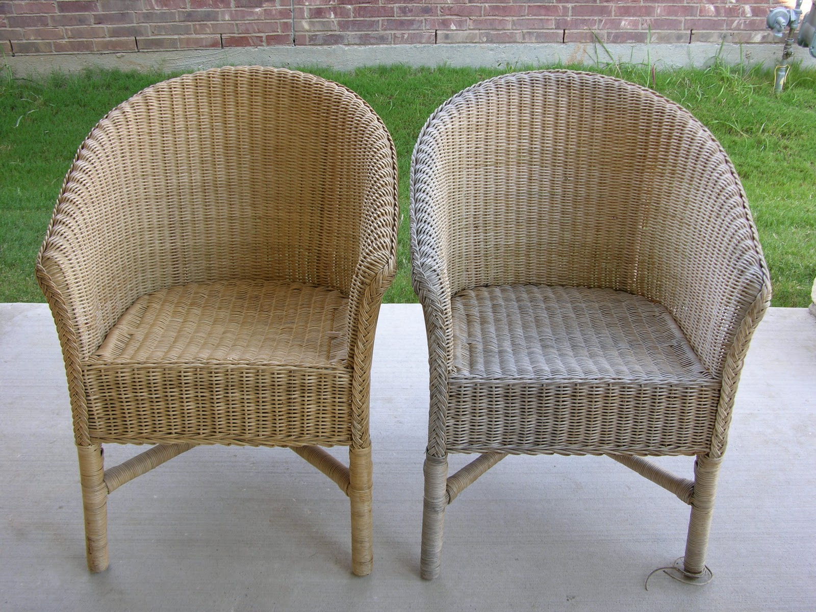 Creative Splatter  Painted Wicker Chairs Painted Wicker Chairs