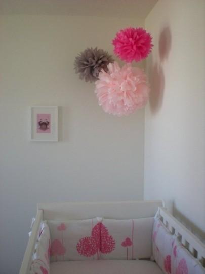 A Mountain Bride Nursery Lanterns And Poms