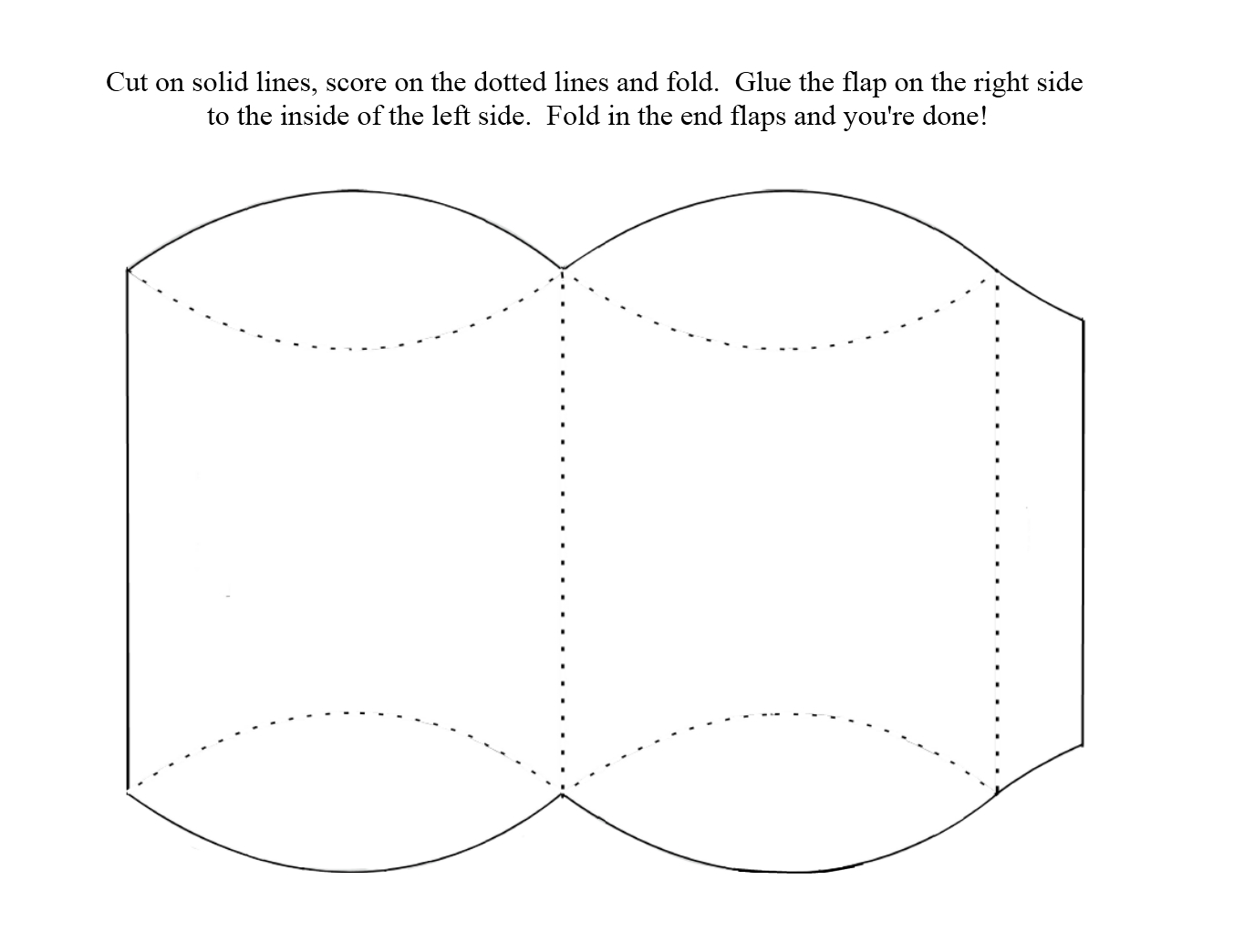 Template For Pillow Box. adorable new flower pillow box template ...