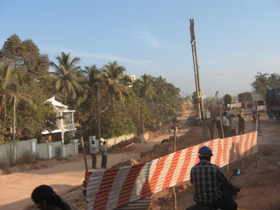 Construction of Flyover near Nanthoor, Mangalore