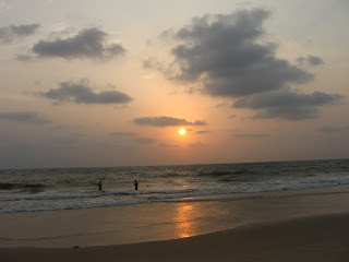 Sunset at Panambur beach, Mangalore