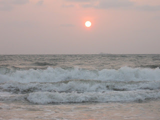 Sun is about to set at Panambur beach, Mangalore