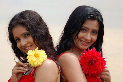 Shubha Poonja and Radhika Pandit in Kannada film, Moggina Manasu